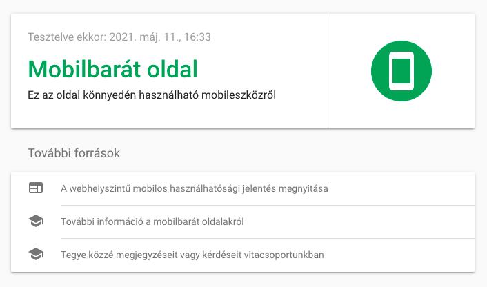 mobilbarát oldal